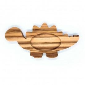 prato infantil de madeira teca dinossauro 6631 wood love casa cafe e mel 1