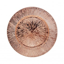 sousplat metalizado com detalhes individual rose gold h d50907 r casa cafe e mel 1