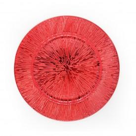 sousplat metalizado com detalhes individual vermelho h d50907 v casa cafe e mel 1
